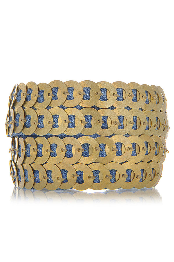 FIONA PAXTON ANABEL Gold Denim Cuff