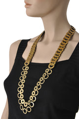 FIONA PAXTON RAQUEL Gold Chains Necklace