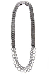 FIONA PAXTON RAQUEL Silver Chains Necklace
