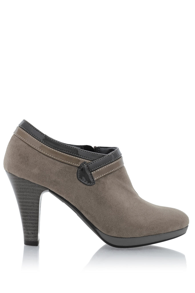 FIORELLA NORALIN Taupe Suede Ankle Boots
