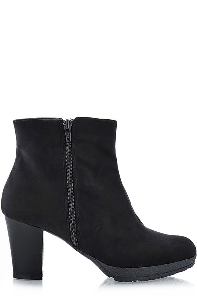 YANA Black Suede Ankle Boots