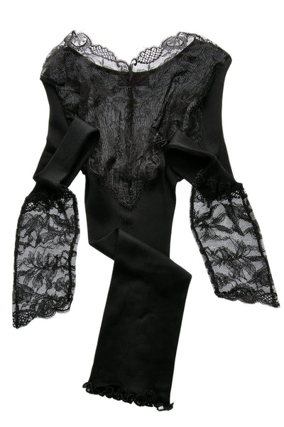 FOGAL - 773 PRECIEUSE Evening Black Lace Top Women Apparel Lingerie