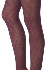 FOGAL 114 CHIC Diagonal Tights 614 Marine Dark Blue