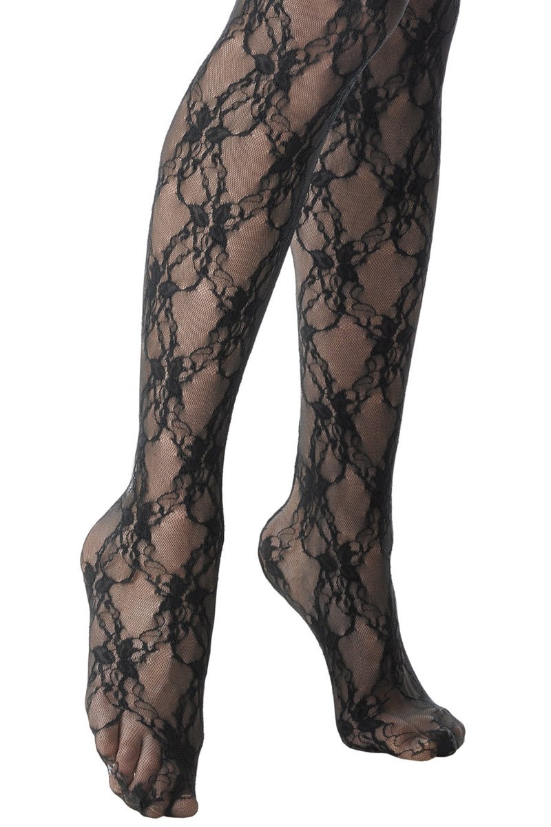 FOGAL 118 Tights of Finest Elastic Lace 210 Noir