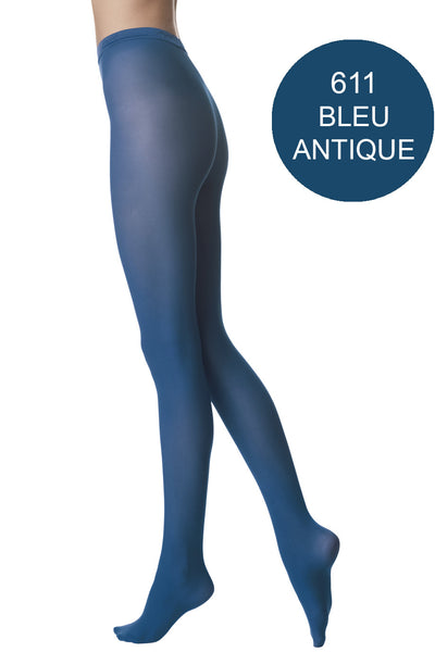 FOGAL 138 OPAQUE 611 Bleu Antique Tights