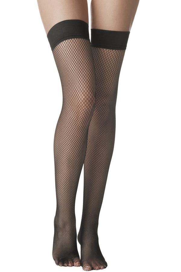 FOGAL 255 FLAMENCO Garter-Top Stockings Net 109 Capri