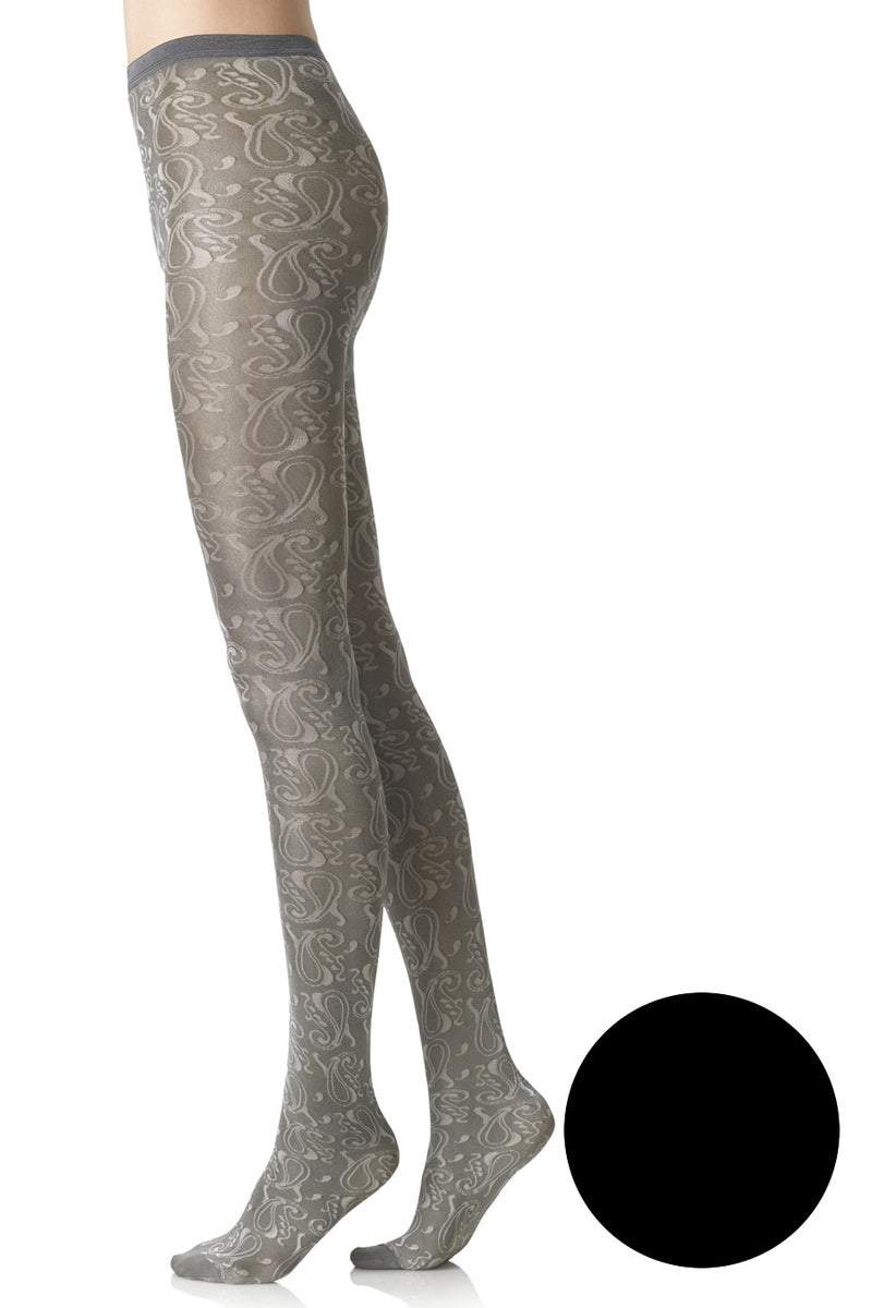 FOGAL 496 ORNAMENT 210 Black Tights
