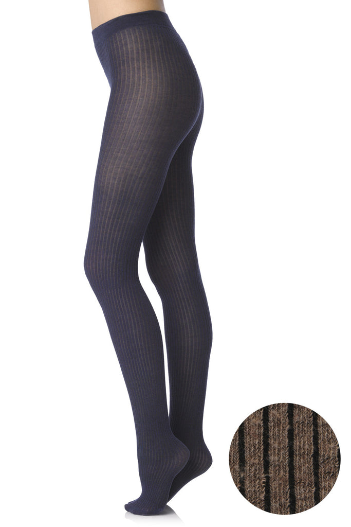 FOGAL 498 COTTON RIB 113 Taupe Tights