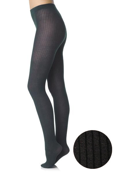 FOGAL 498 COTTON RIB 120 Brown Tights