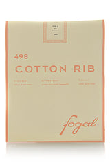 FOGAL 498 COTTON RIB 513 Bouteille Tights