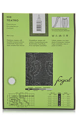 FOGAL 508 TEATRO Floral Tights 298 Noir-Silver