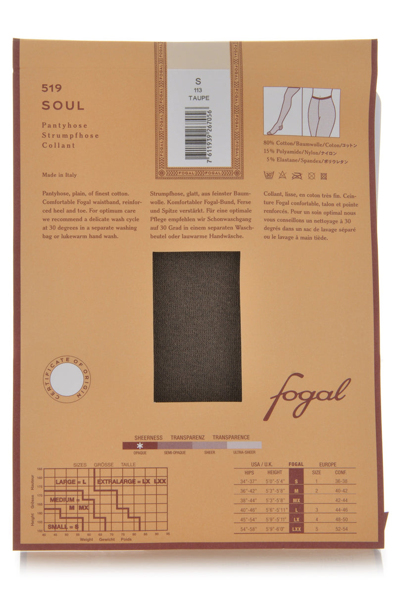 FOGAL 519 SOUL Castagno Cotton Tights