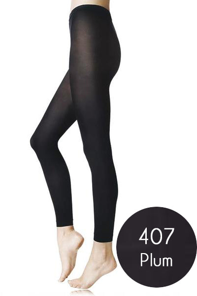FOGAL 537 OPAQUE Purple Leggings 407 Plum