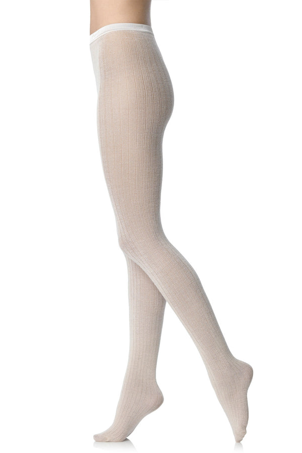 FOGAL 544 COSY Crochet Tights Brown