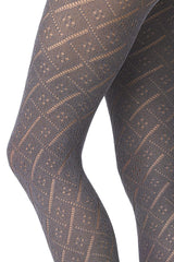 FOGAL 592 SOFTNESS Crochet Tights 013 Gris- Mele