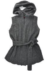 FOGAL 710 LEISURE Alpaca Wool Cardigan Gray