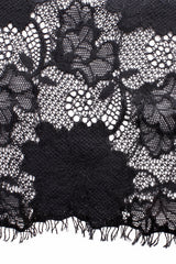 FOGAL 852 ROMANTIC Lace Top 210 Noir Black
