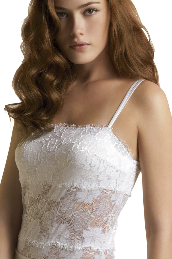 FOGAL 852 ROMANTIC Lace Top Blanc White