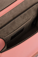 FENDI KAN I F Pink Leather Mini Bag