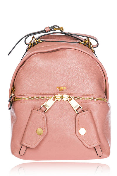 TRAVEL Pink Leather Backpack