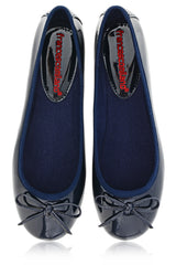 FRANCESCO MILANO - Blue Patent Ballerinas Flat Shoes Flats