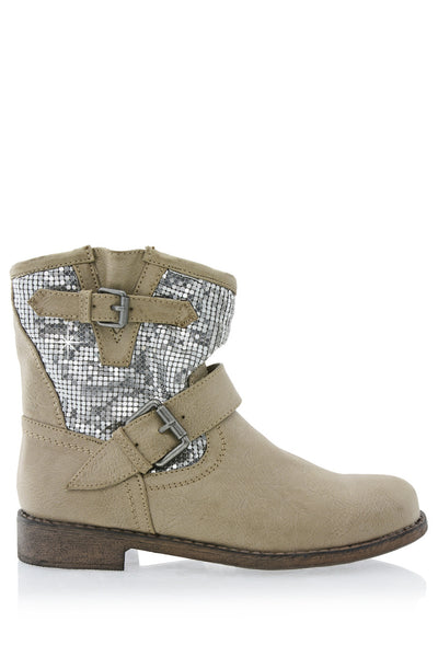CORADO Beige Ankle Boots