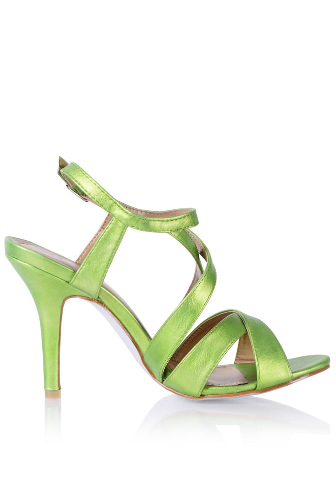 FRANCESCO MILANO SESHAT Green Heeled Sandals
