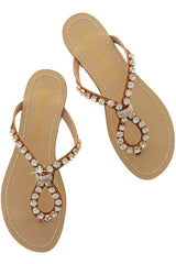 FRANCESCO MILANO ZANIA Crystal Embellished Sandals