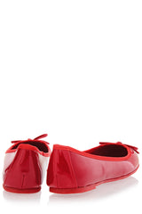 FRANCESCO MILANO ERMA Red Pattent Ballerinas