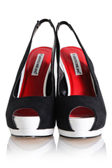 FRANCESCO MILANO JENNY Black White Peep Toe