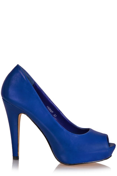 LOIS Blue Heeled Pumps