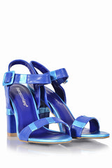 FRANCESCO MILANO NIA Electric Blue Sandals