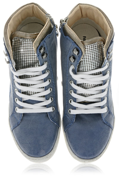 FRANCESCO MILANO PERSA Blue Sneakers