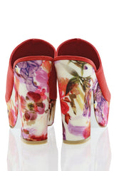 FRANCESCO MILANO PRIMAVERA Red Floral Sandals