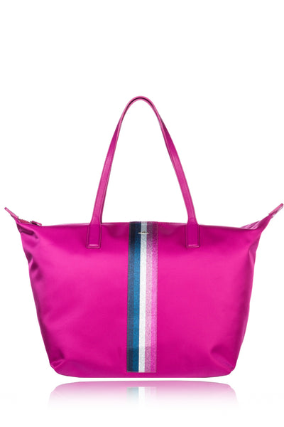 HOGAN SHOPPER Fuchsia Nylon Shopping Bag