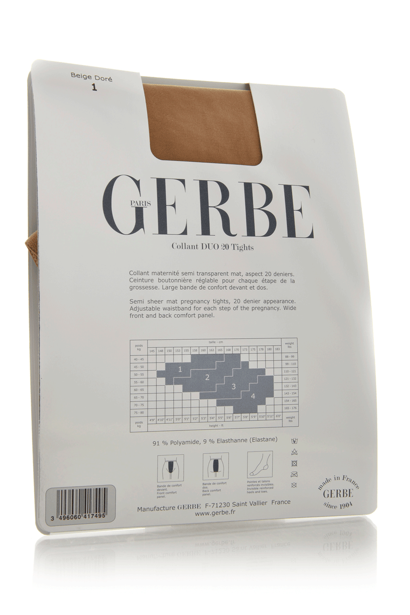 GERBE DUO 20 Beige Pregnancy Tights