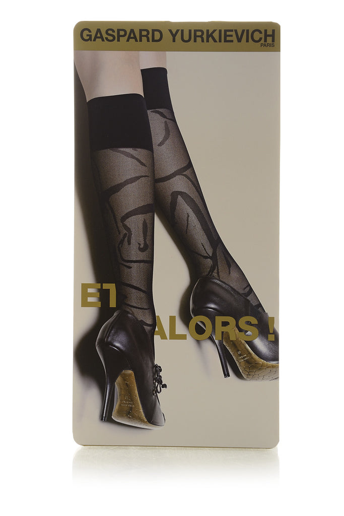 GERBE ET ALORS! Black Knee Highs