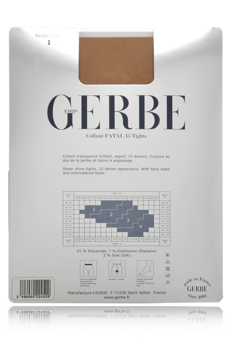 GERBE FATAL 15 Black Red Seamed Tights