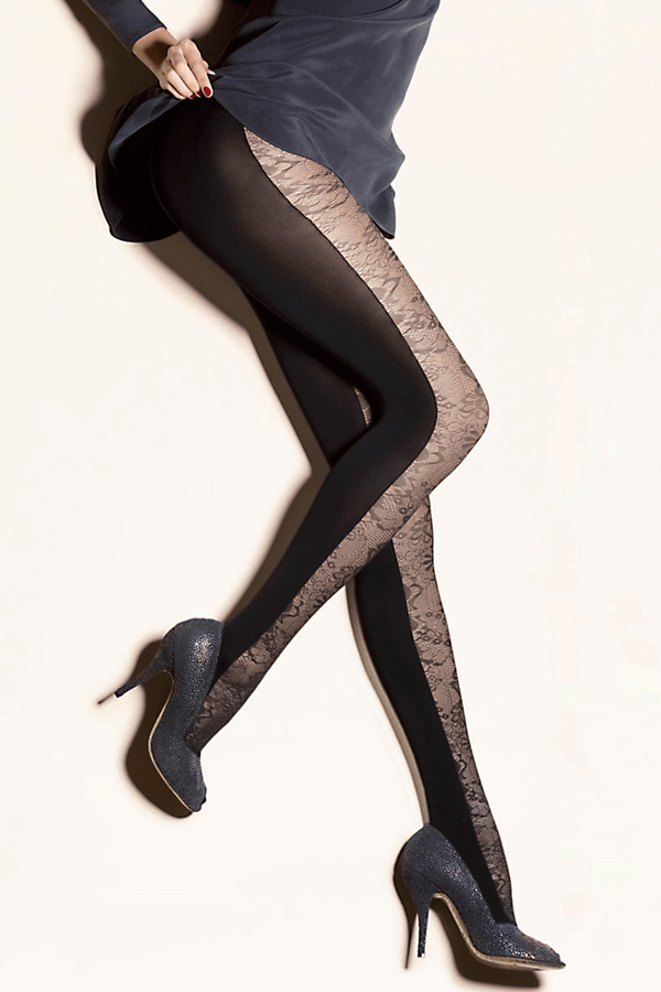GERBE IMPREVU Black Lace Tights