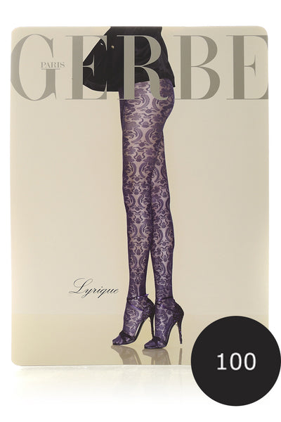 GERBE LYRIQUE Black Baroque Tights