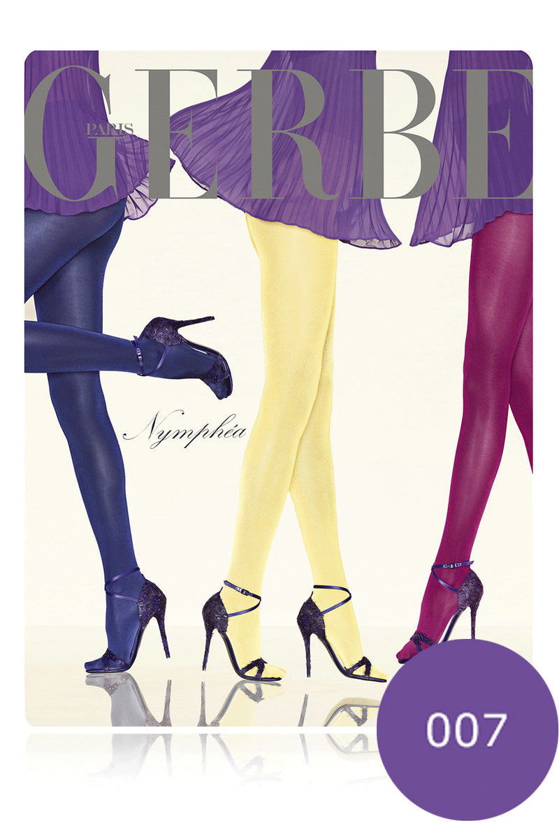 GERBE NYMPHEA Iridescent Amethyste Finish Tights