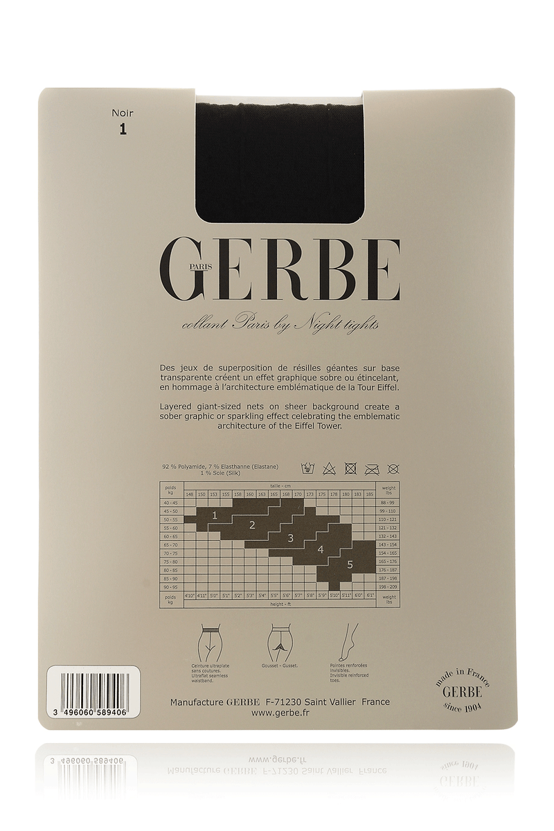 GERBE PARIS BY NIGHT Black Tights