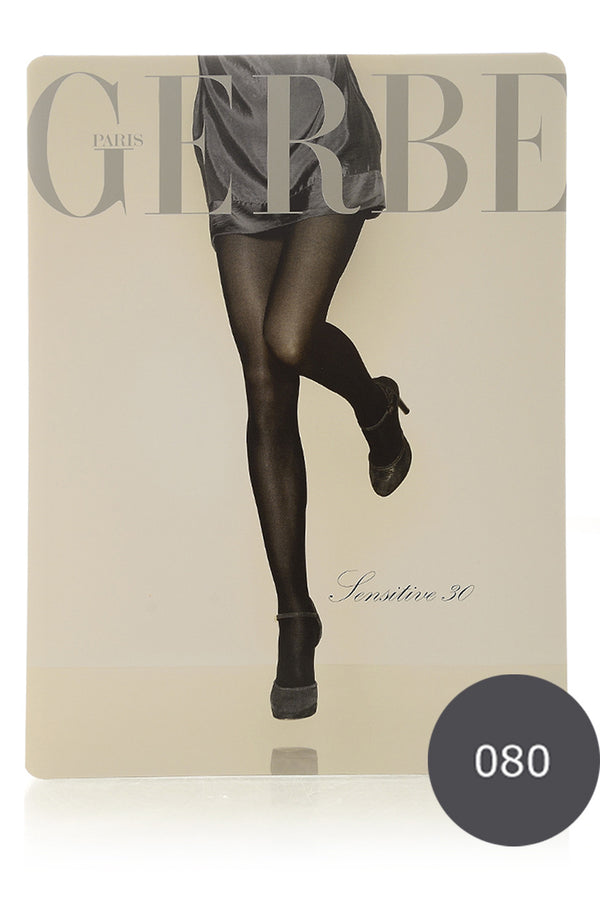 GERBE SENSITIVE 30 Anthracite Grey Tights