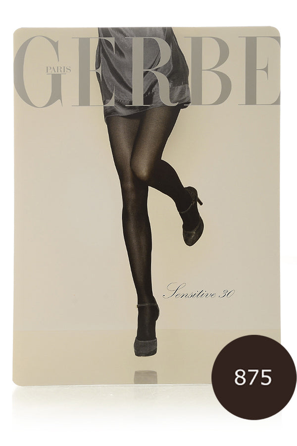 GERBE SENSITIVE 30 Brown Tights (Chocolat)
