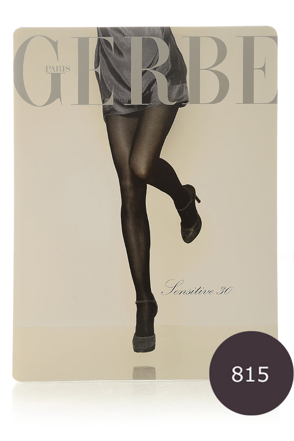 GERBE SENSITIVE 30 Brown Tights (Myrtille)
