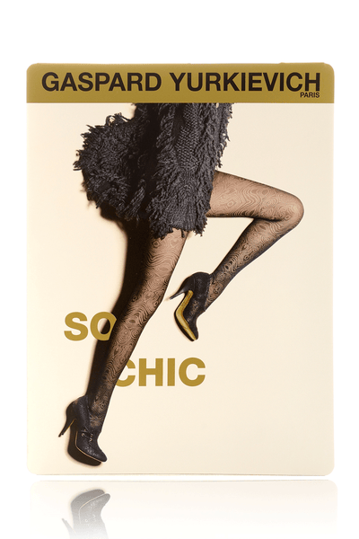 SO CHIC Black Psychedelic Tights