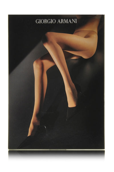 GIORGIO ARMANI LADY Sheer Black Tights