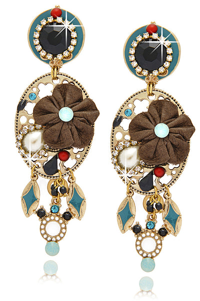 GIO BERNARDES ROSE PARTY Leather Earrings