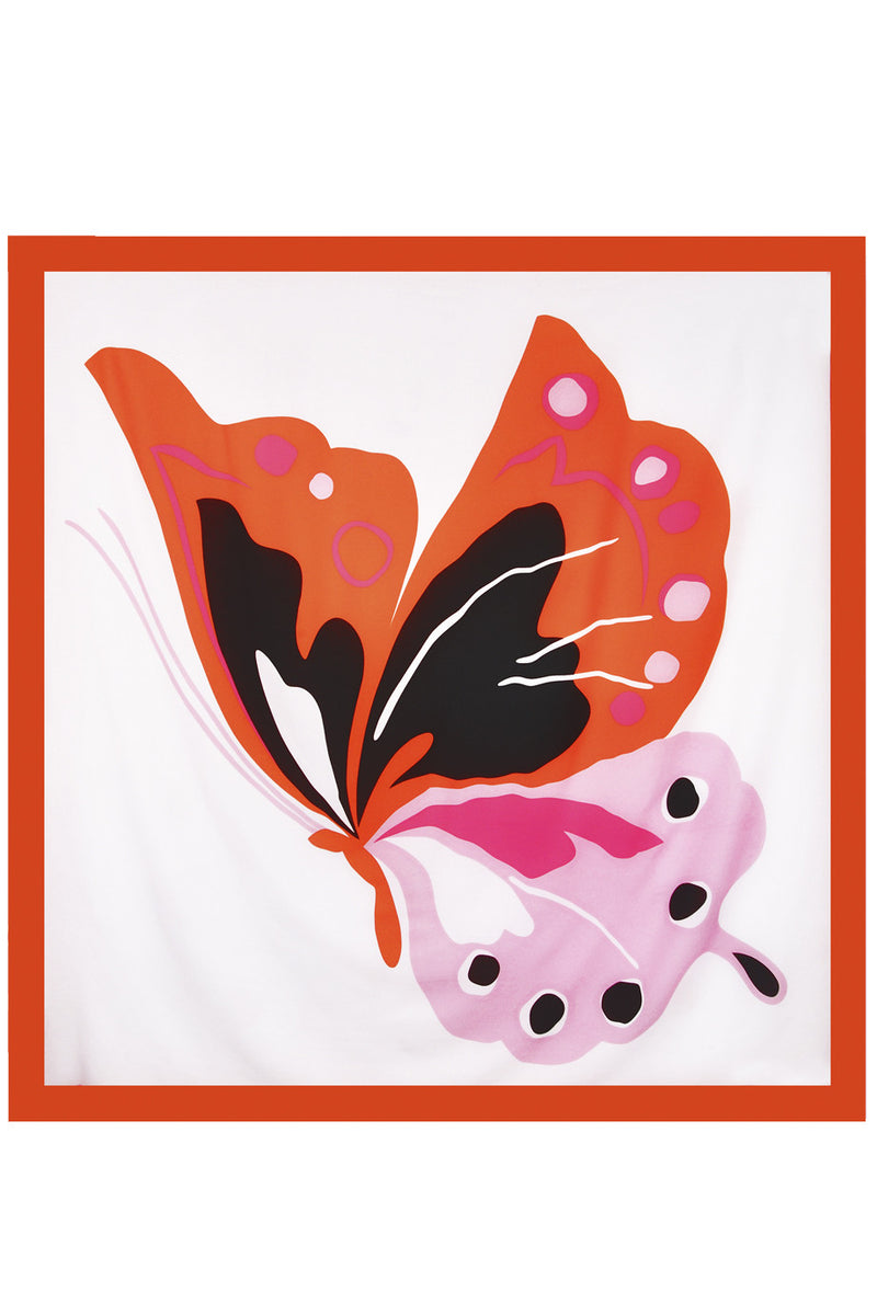 GOTTEX BUTTERFLY Multicolor Silk Cover Up Woman Scarf