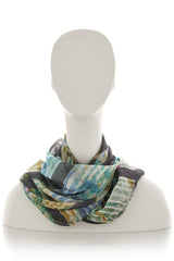 GOTTEX EXOTIC Grey Floral Printed Woman Scarf